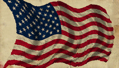 old antique American flag