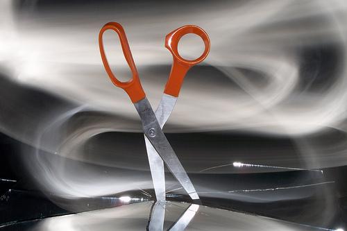 scissor cutting