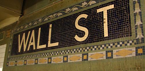 wall street sign tiles