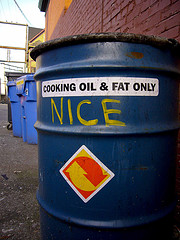 cooking oil and fat only barrel