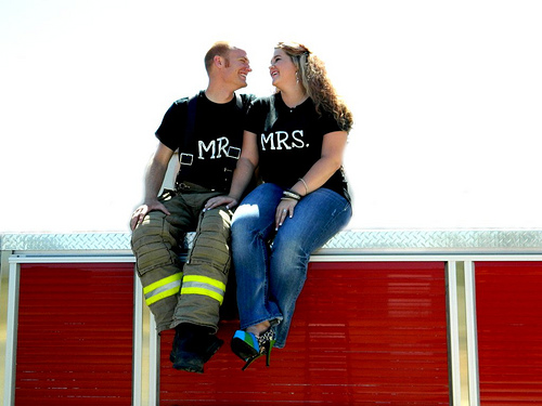 Mr. and Mrs. Fire Fighters