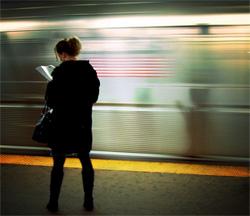 person & fast train