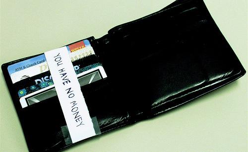 wallet - you have no money